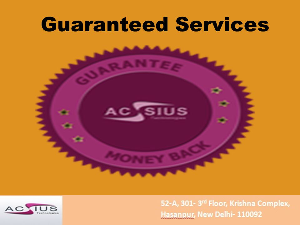 Guaranteed Services