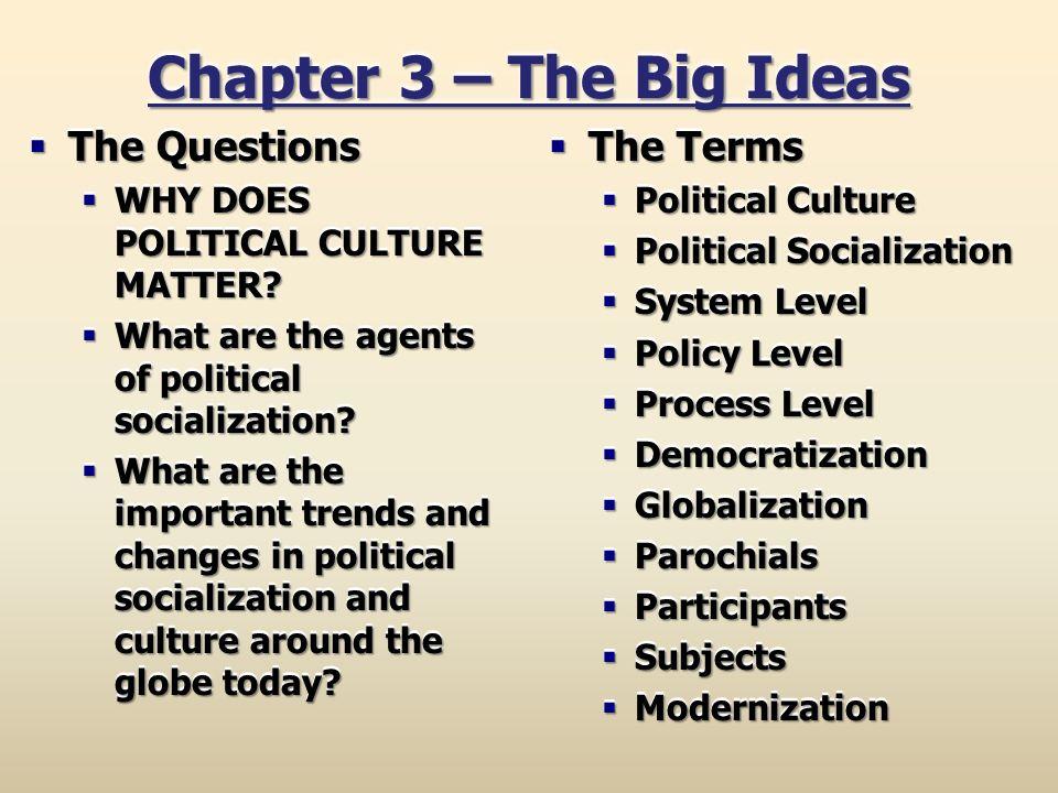 major agents of political socialization