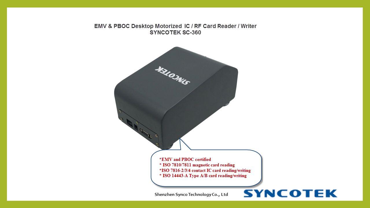 EMV CARD ISSUING MACHINE SYNCOTEK SC-360  EMV card reader