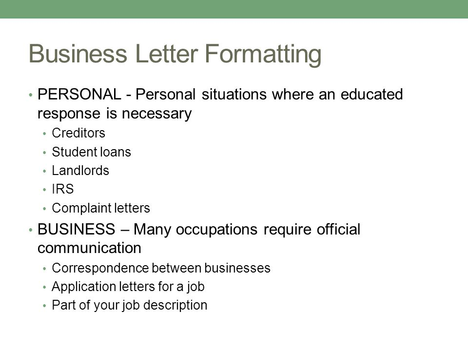 business letters by megan rees why do i need this ppt download