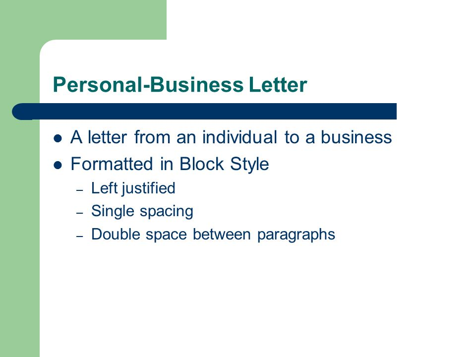 Personal-Business Letters Keyboarding Connections. - ppt download