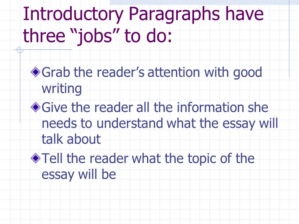 Sample Essay Papers  Introductory Paragraphs  Examples Of Proposal Essays also High School Application Essay Sample Essay Writing  Lesson  Writing Introduction Paragraphs For  Proposal Essay Topics Examples