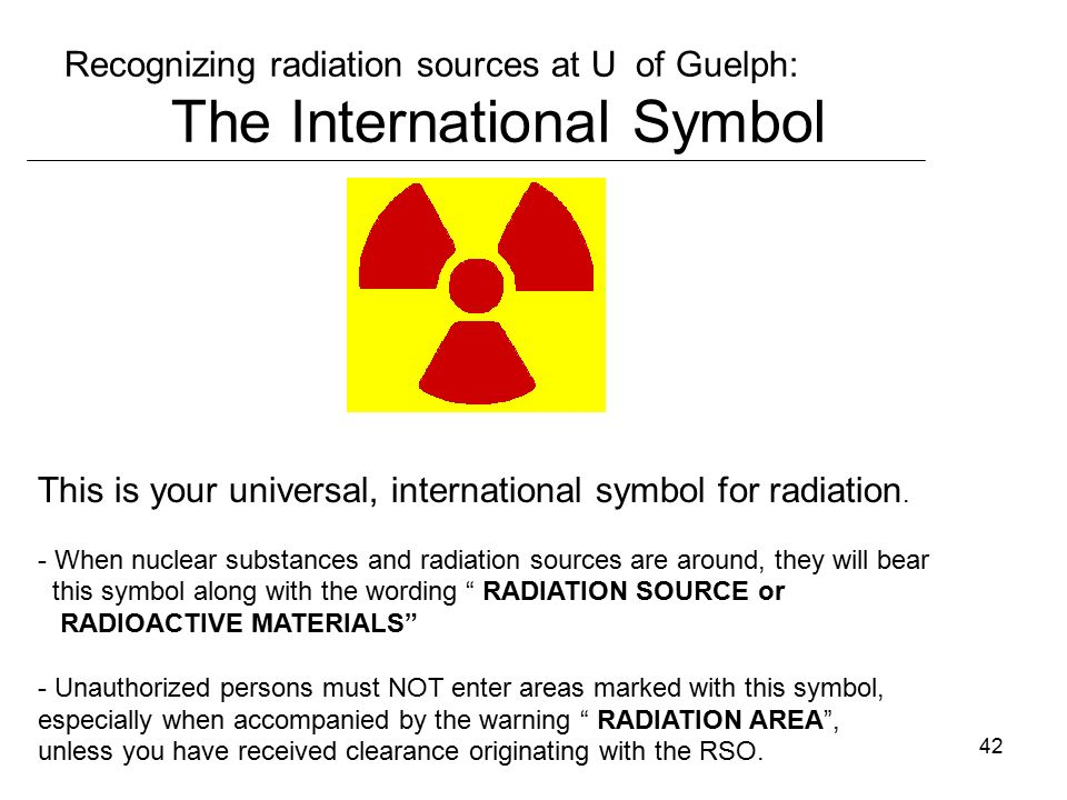 1 A Radiation Protection Course For U Of Guelph Staff Non Users
