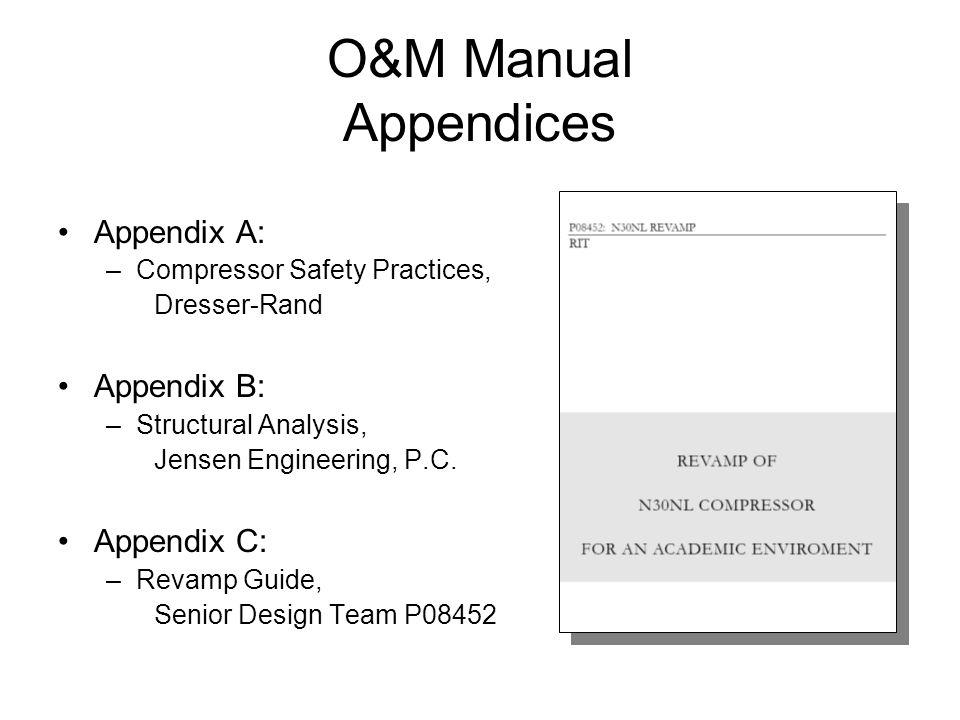 O M Manual Endices Endix A Compressor Safety Practices Dresser Rand B