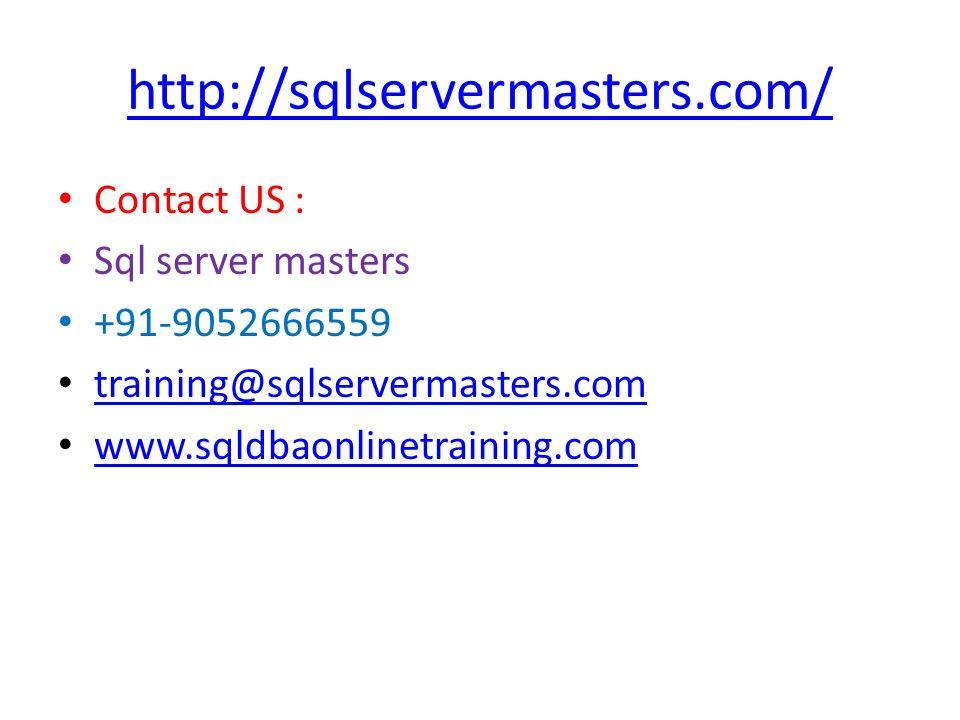 Microsoft Sql Server Database Business Intelligence Training