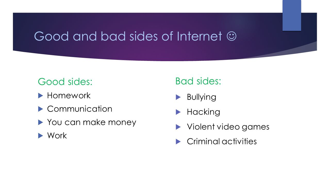 10 bad things about the internet