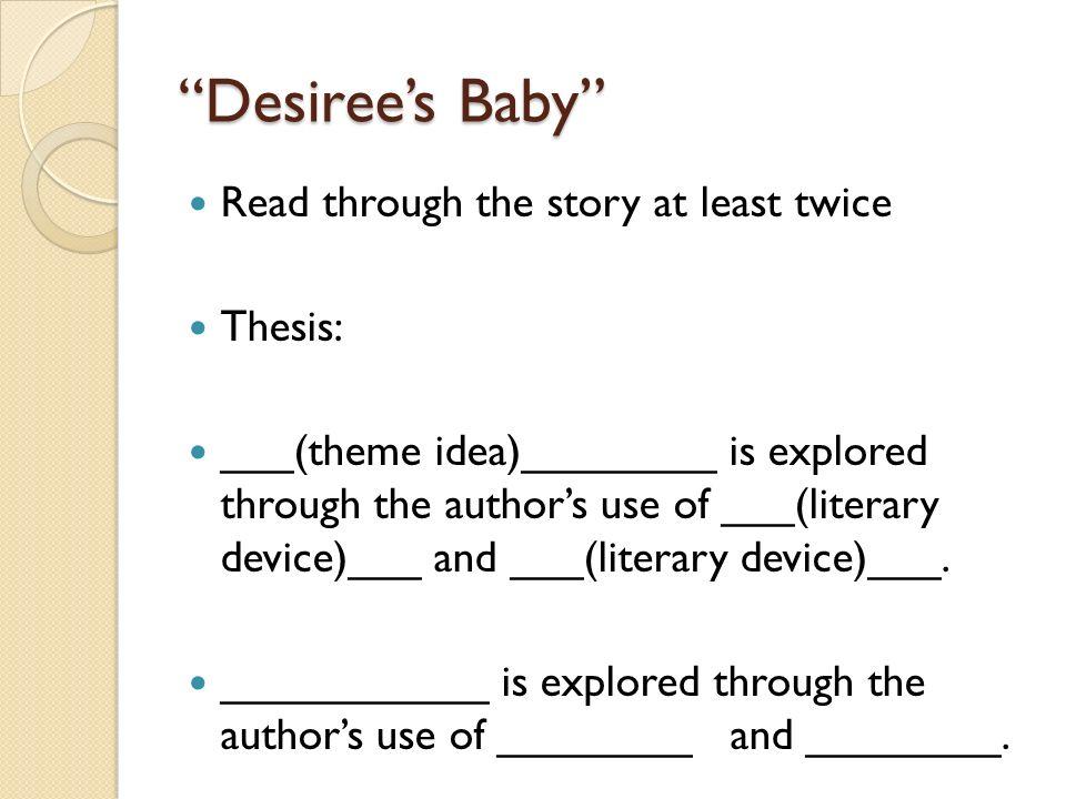 desirees baby theme essay
