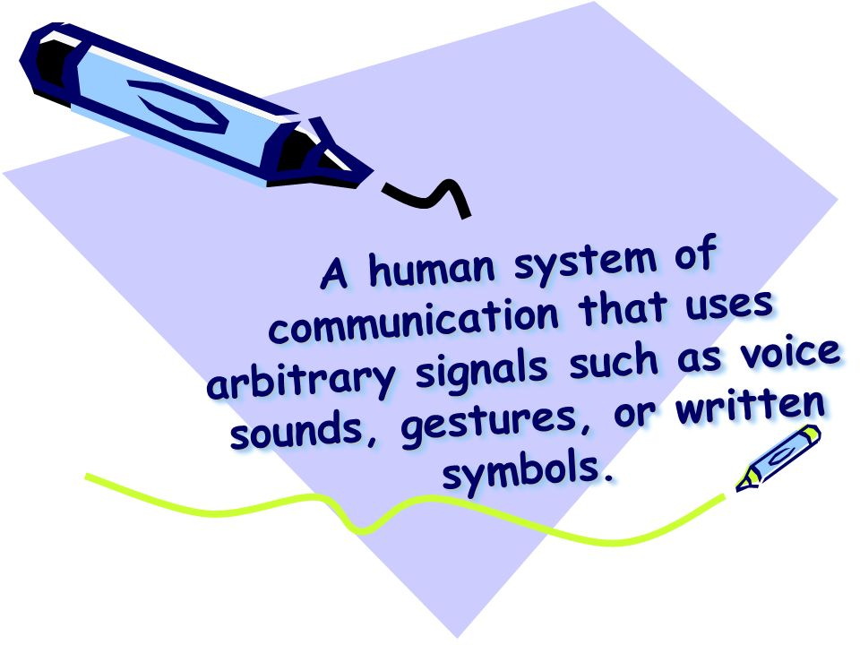 Languageslanguages What Is Language A Human System Of