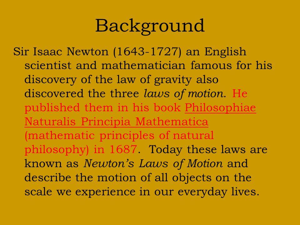 sir isaac newton background