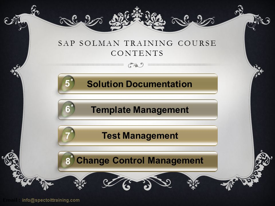 sap solution manager online training in usa specto it online