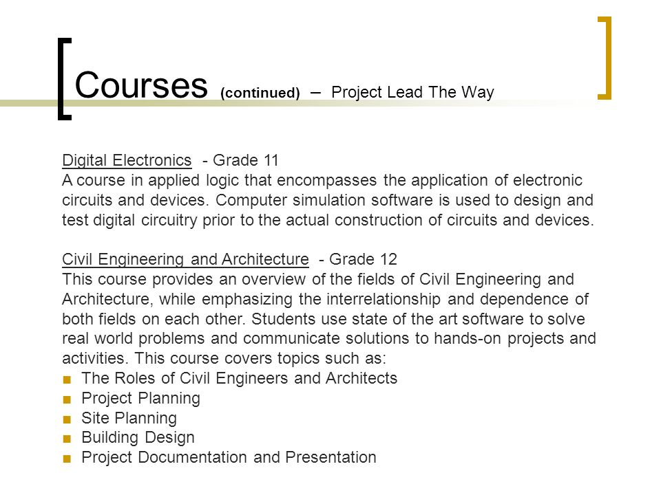 Project Lead The Way Forging New Generations of Engineers. - ppt ...