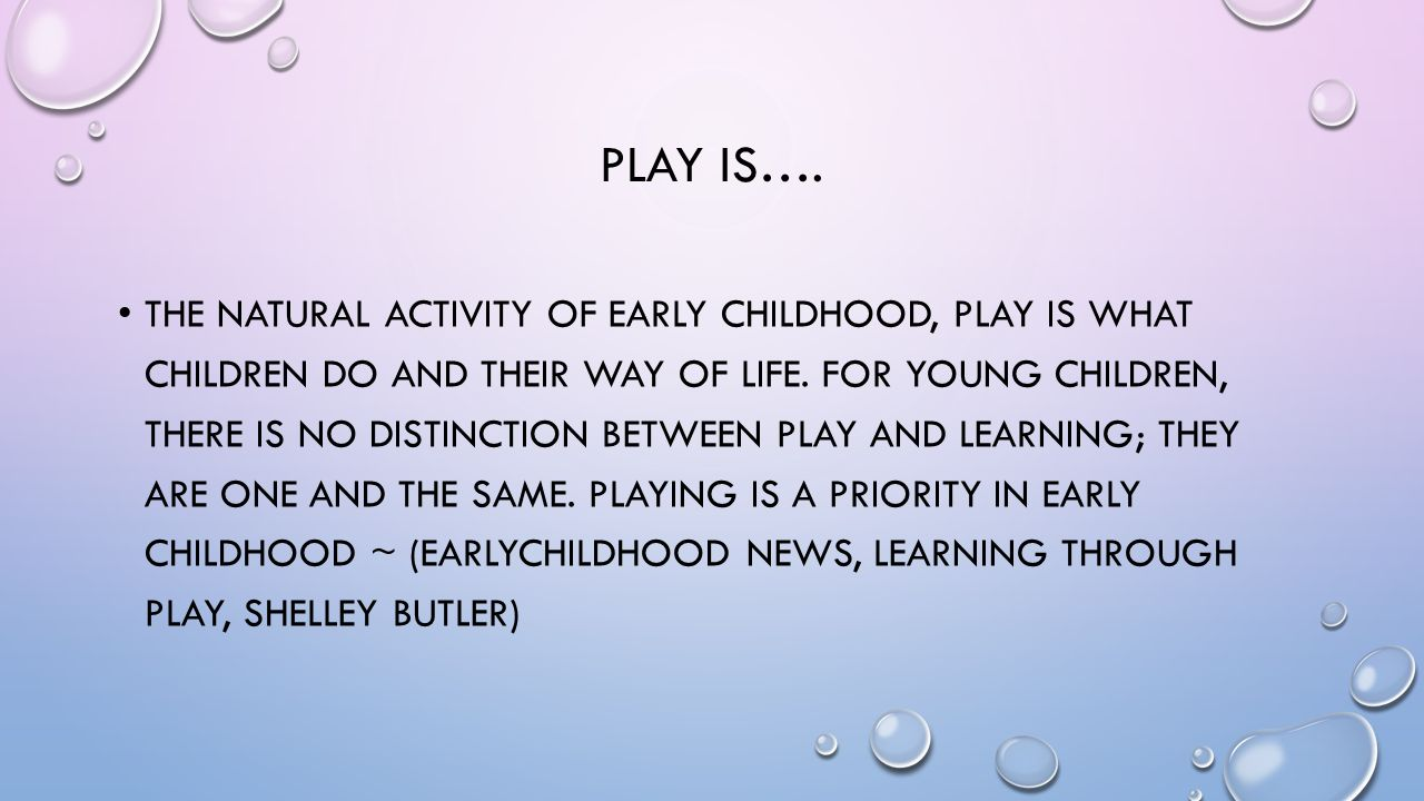Learning Through Play In Order To Make Others Understand How