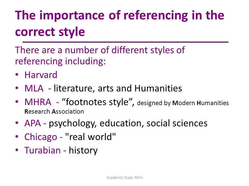 7 The Importance Of Referencing In Correct Style There Are A Number Different