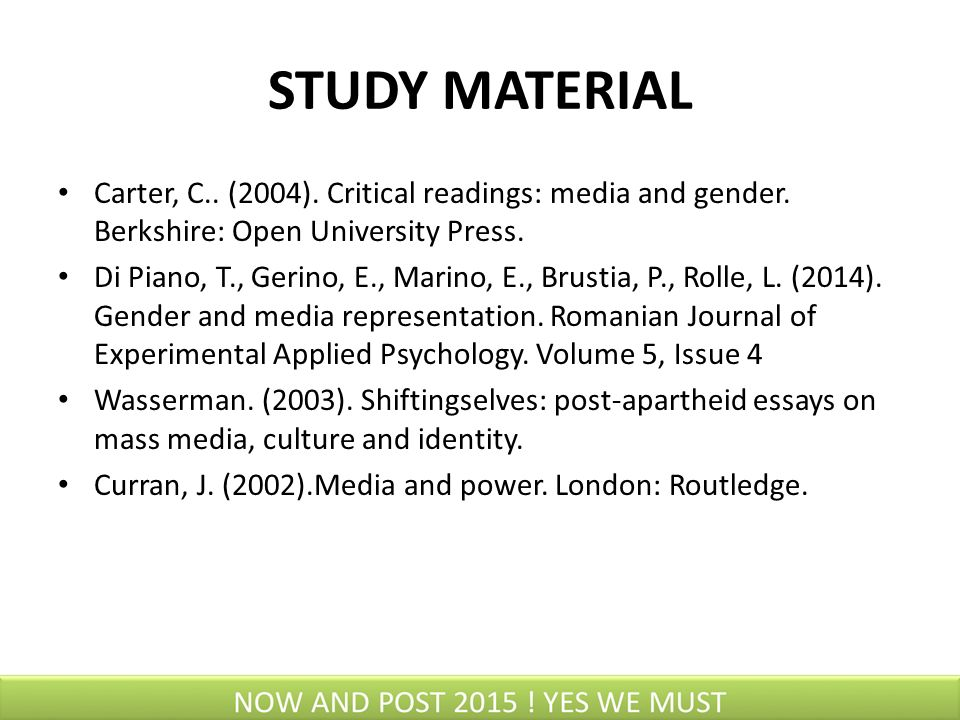 critical readings media and gender
