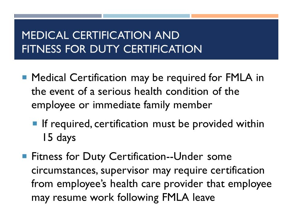 FMLA FAMILY AND MEDICAL LEAVE ACT. PLEASE NOTE THE FOLLOWING: The ...