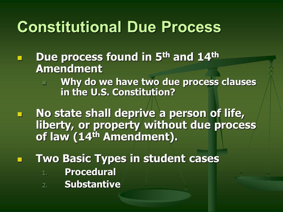 7 Cons Utional Due Process