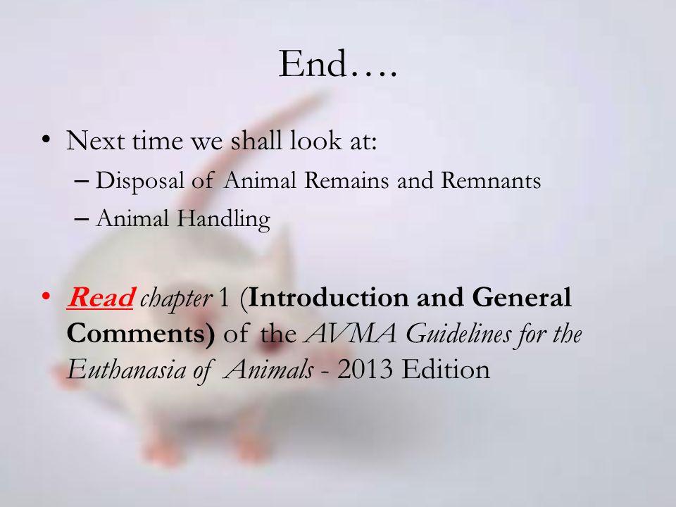 disposal of animal remains