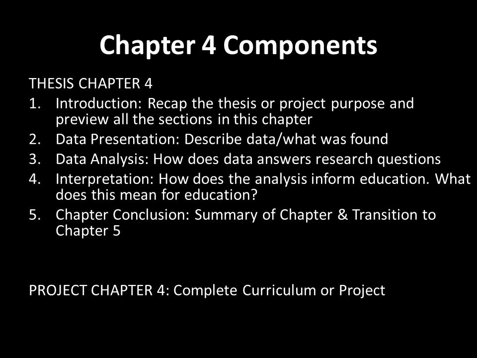 chapters included thesis Plan out the thesis chapters and create an outline listing the chapters you will have in the thesis a suggested list of chapters appears below this is preliminary you can change the chapter list.