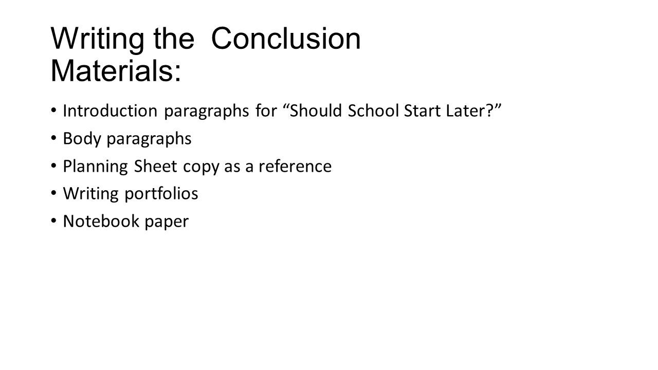 best way to start a conclusion in an essay
