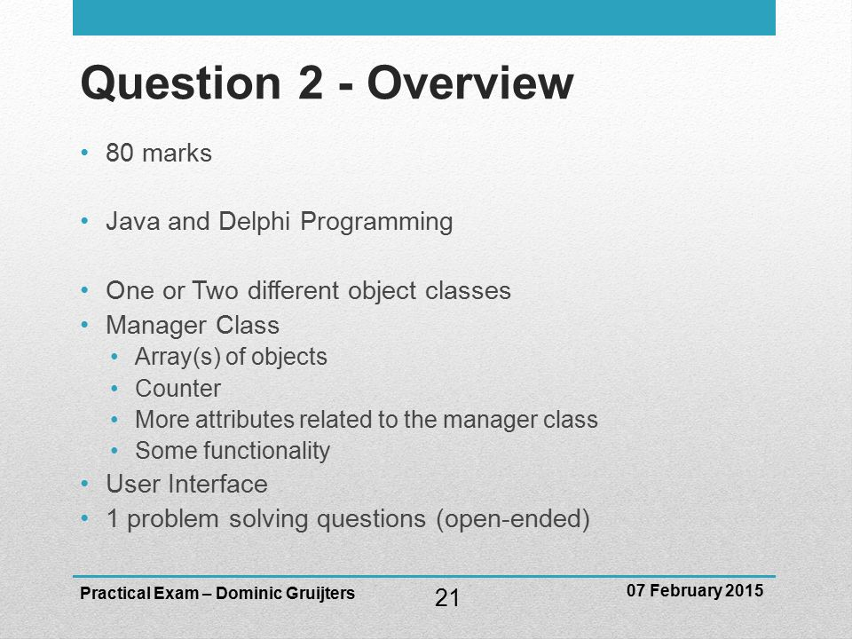 java problem solving questions