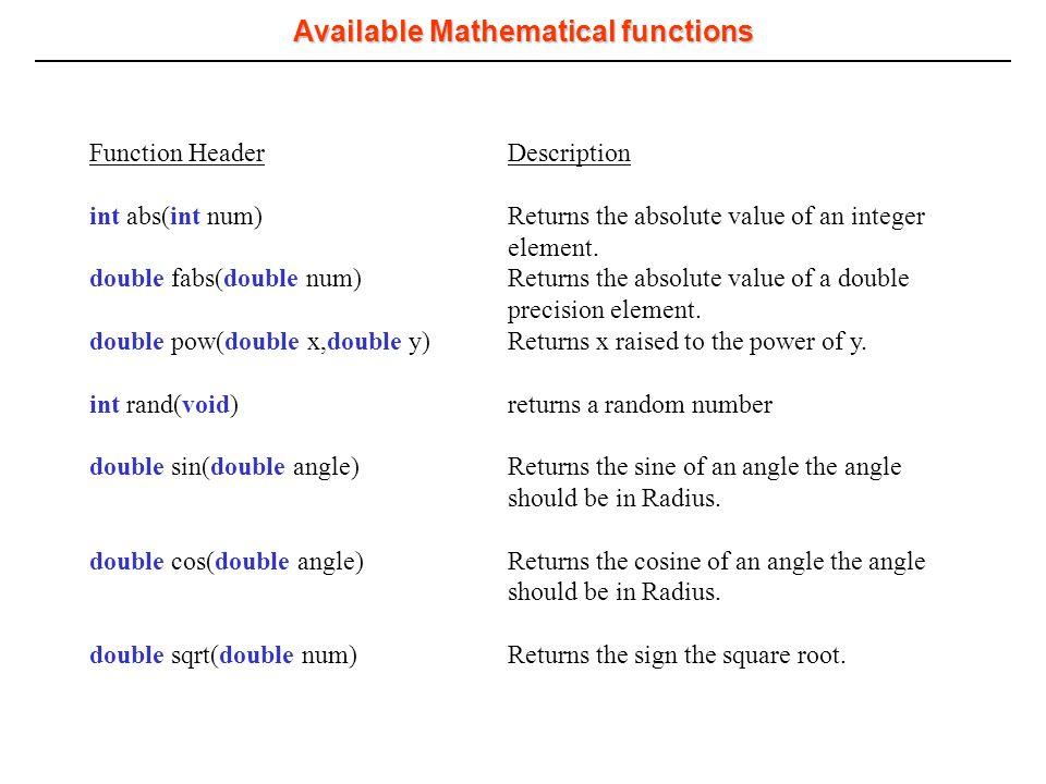 Introduction to C Lecture 4: Functions Alireza Masoum Urmia