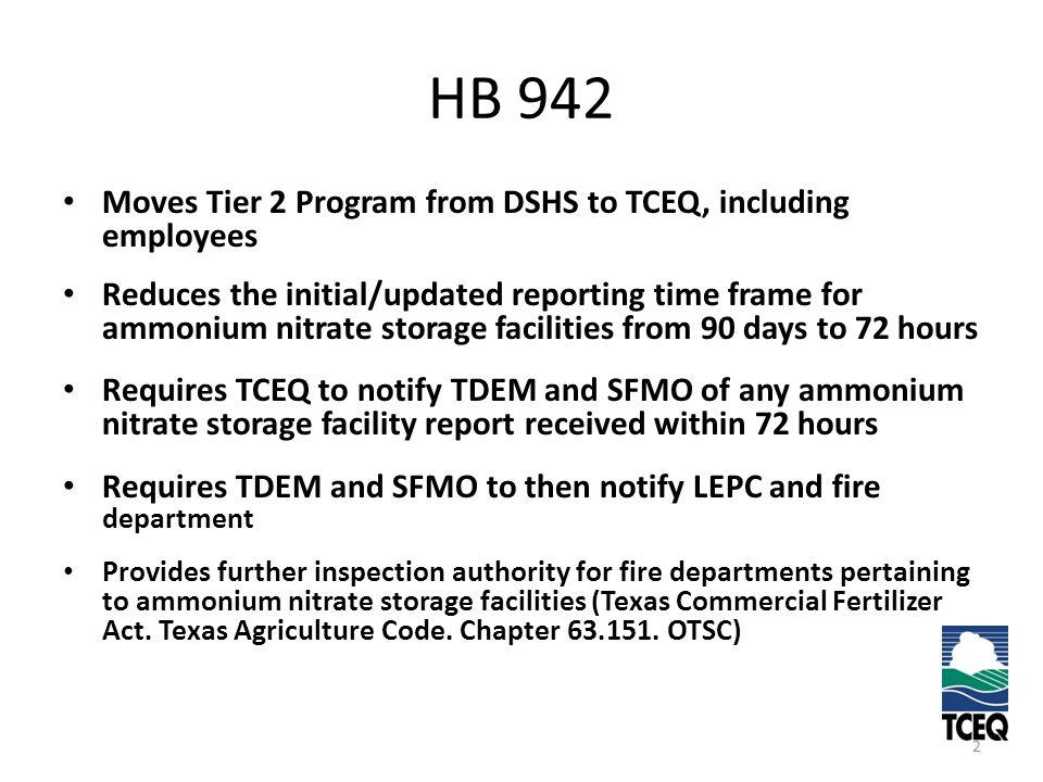 TIER 2 REPORTING Bernardine Zimmerman TIER 2 CHEMICAL REPORTING ...