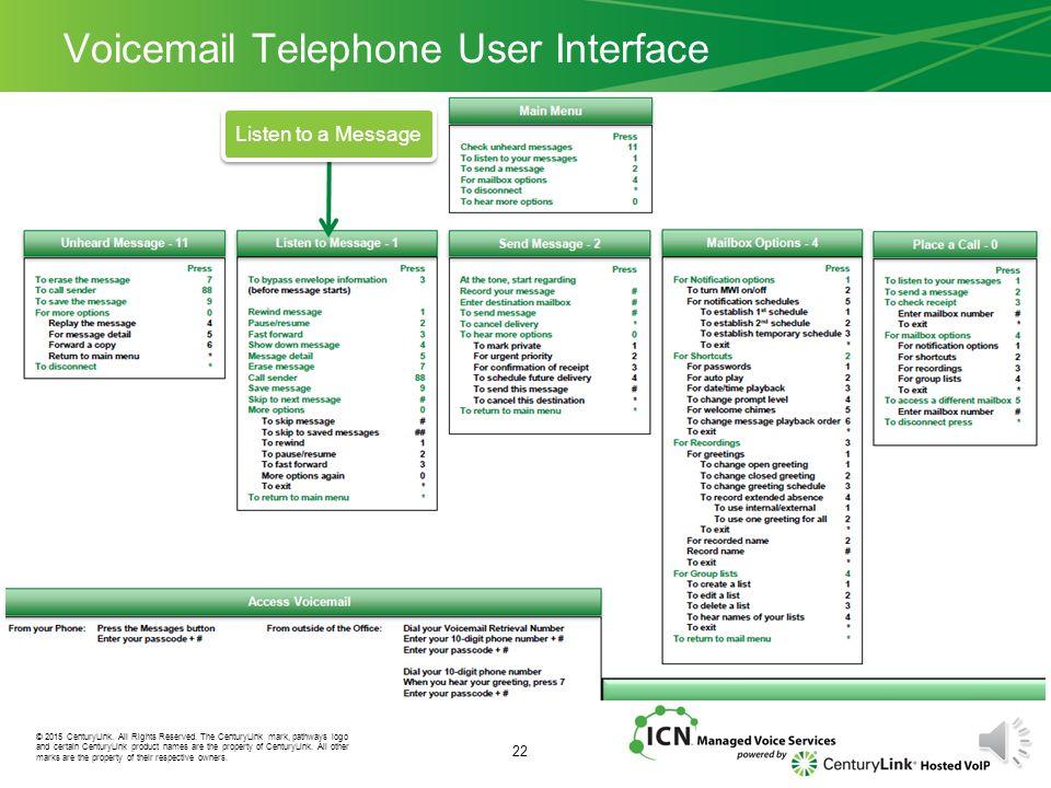 2015 centurylink all rights reserved the centurylink mark rh slideplayer com centurylink voicemail guide online centurylink voice mail user guide