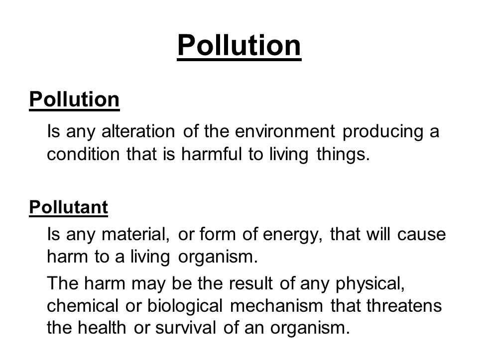Environmental Chemistry Topics 4+5 How Much is Too Much