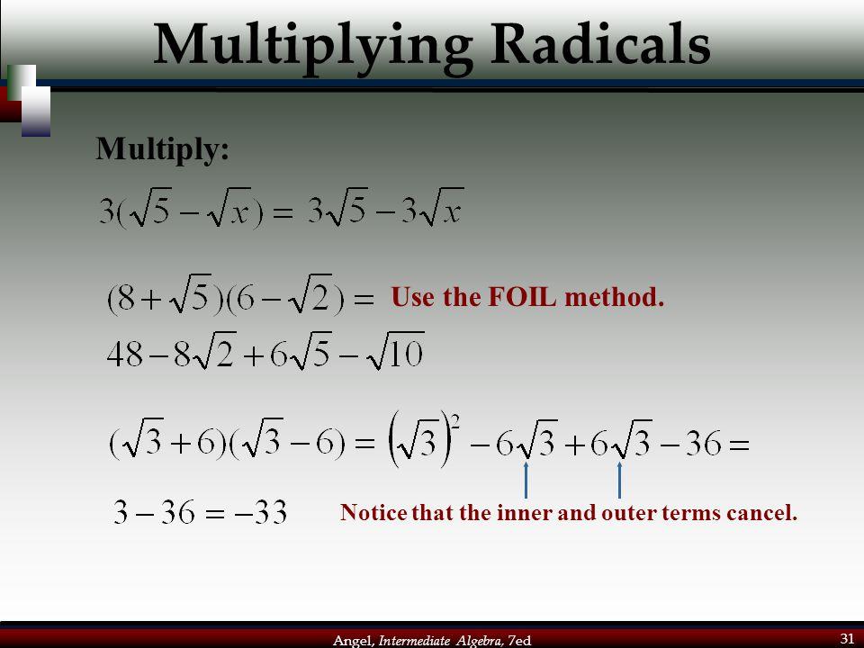 Angel, Intermediate Algebra, 7ed 1 Aim: How do we simplify