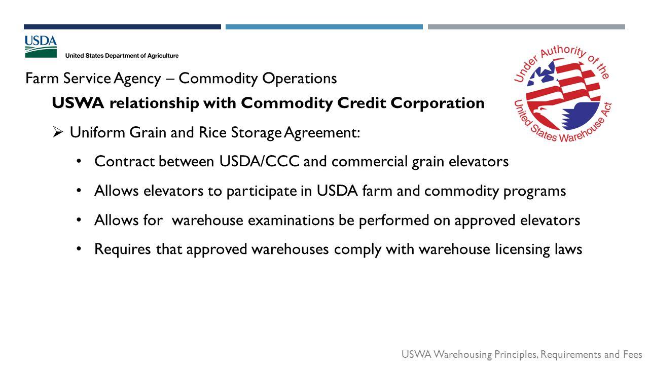 Texas Grain Feed Association Uswa Warehousing Principles