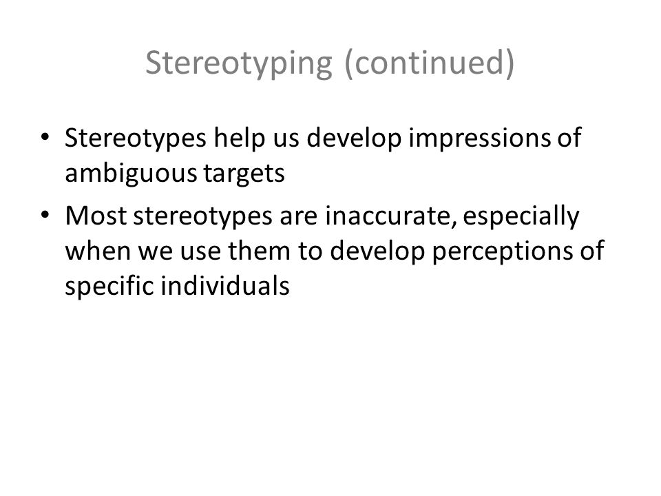 how stereotypes develop