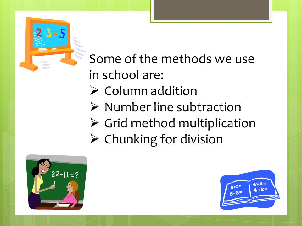 Help your child with calculation strategies   This is the