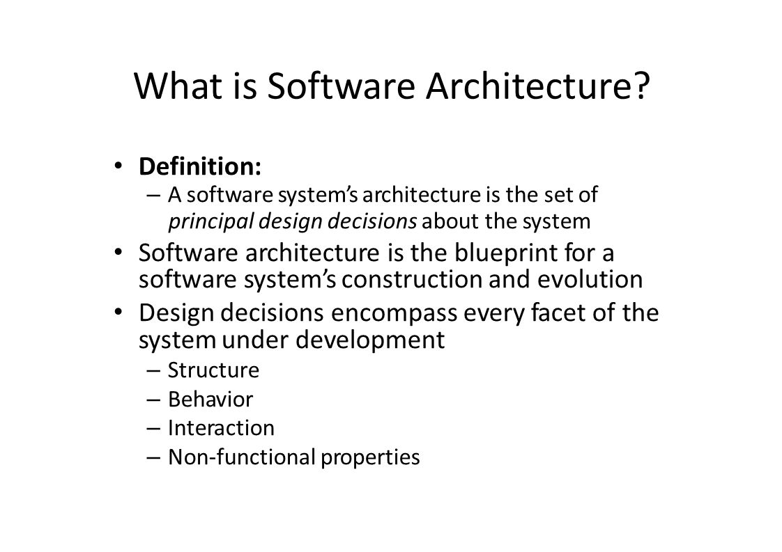 Basic concepts of software architecture what is software 2 what is software architecture definition a software systems malvernweather Gallery
