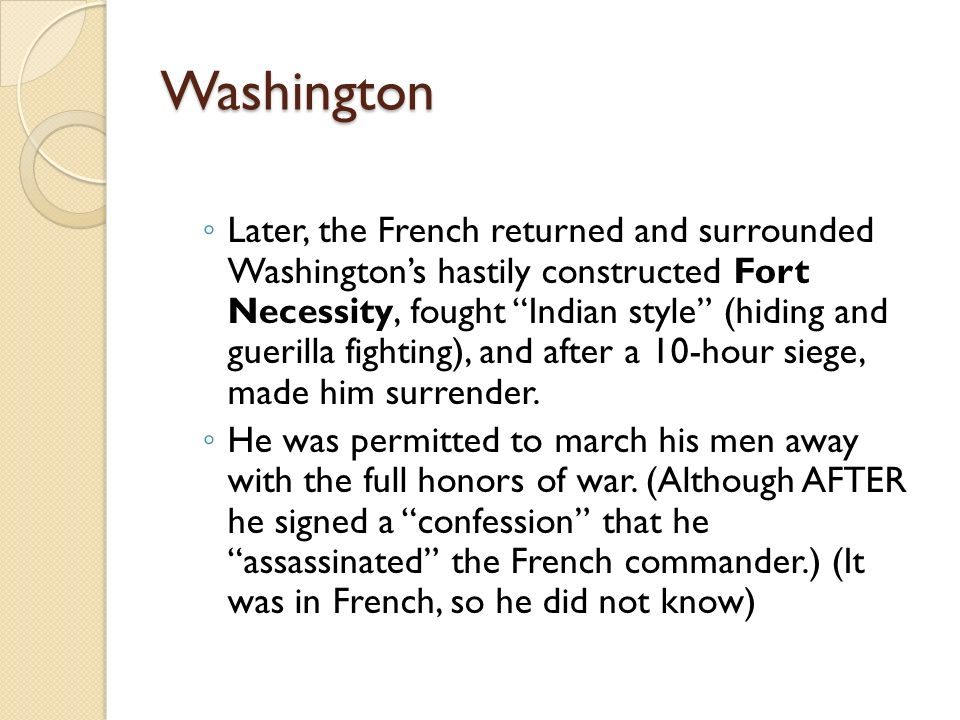 The French and Indian War Chapter 6, part II  The French and