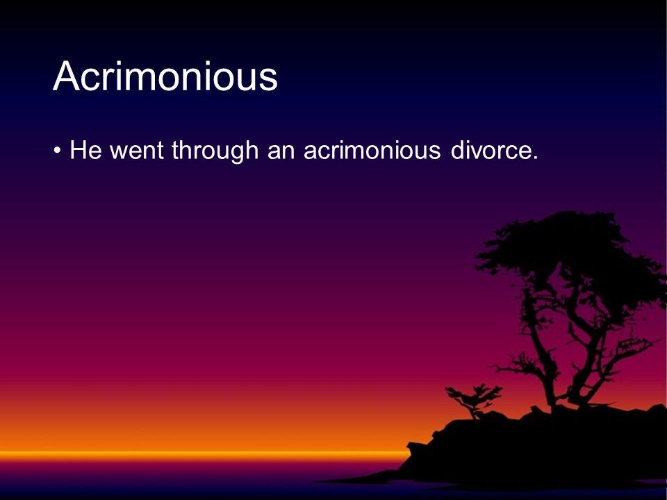 to kill a mockingbird acrimonious