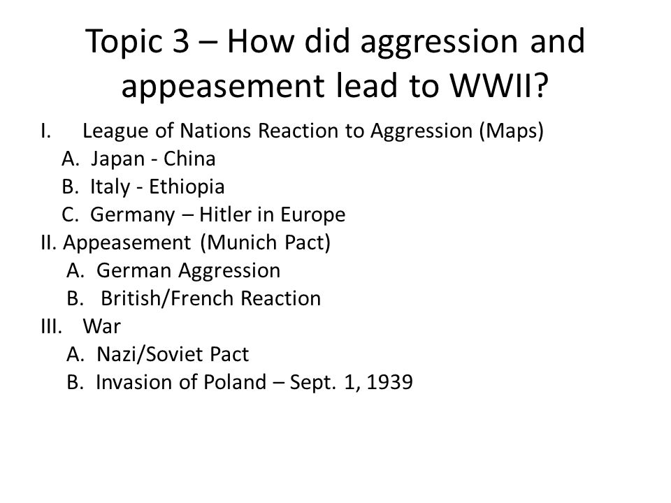 Unit 8 – Global Depression/WWII ( )  Topic 1 – How did