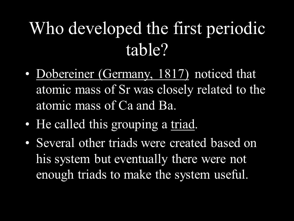 History of the periodic table who developed the first periodic who developed the first periodic table urtaz Images