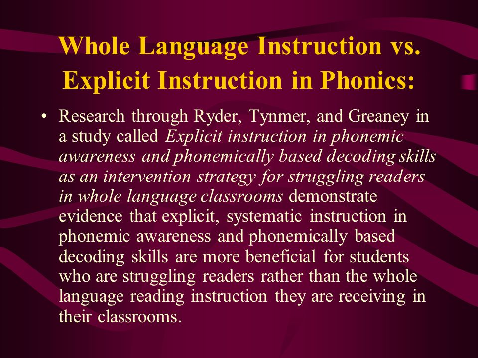 What Research Says About Phonological And Phonemic Awareness By