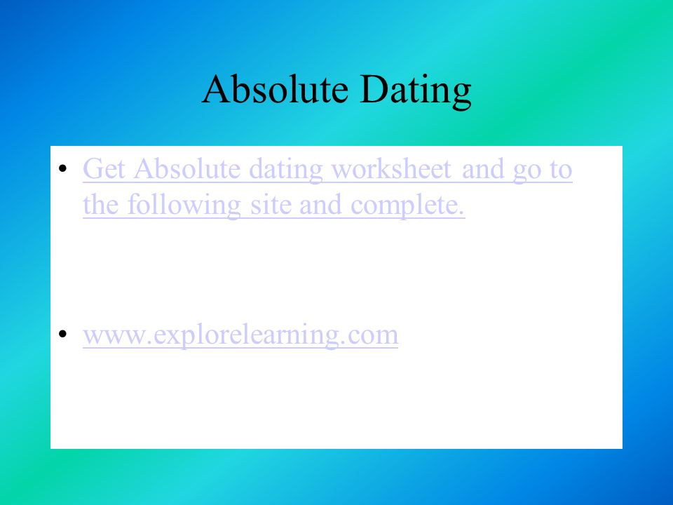 37 Absolute Dating Get Worksheet: Absolute Dating Worksheet At Alzheimers-prions.com