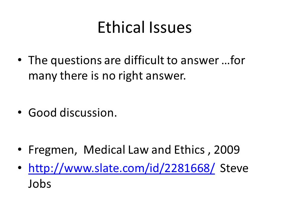 good ethical questions for discussion