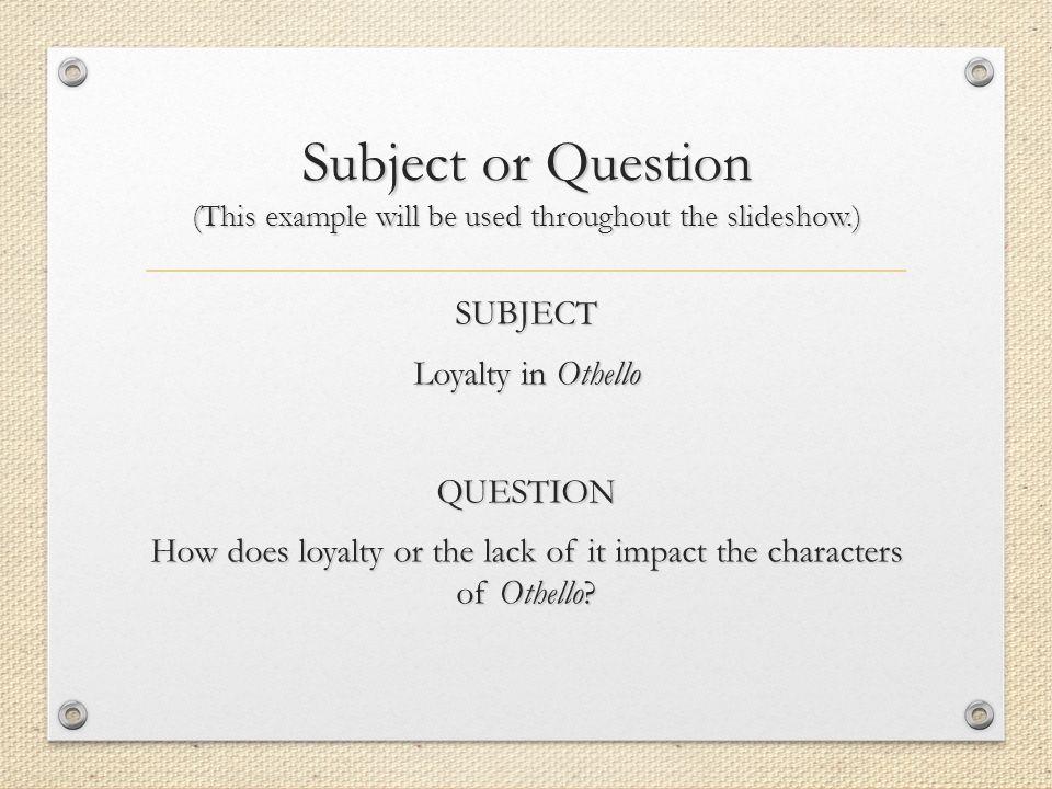 othello literary essay