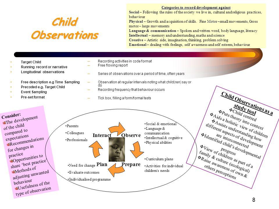 child observation methods