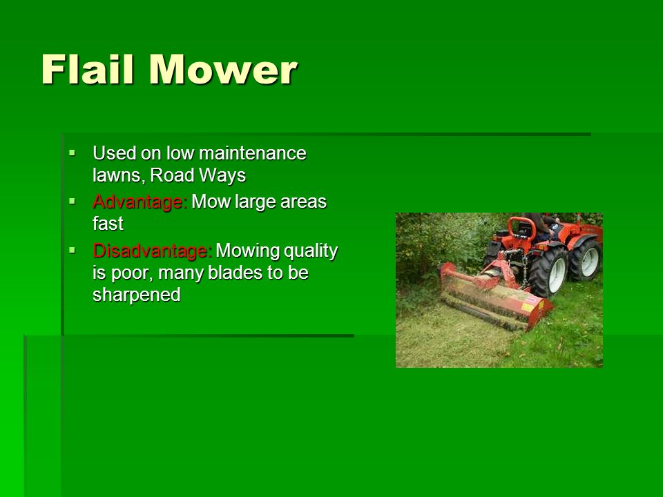 Turf Grass Mowing and Equipment Chapter 11  Learning Targets  I