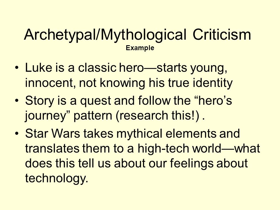 archetypal criticism examples