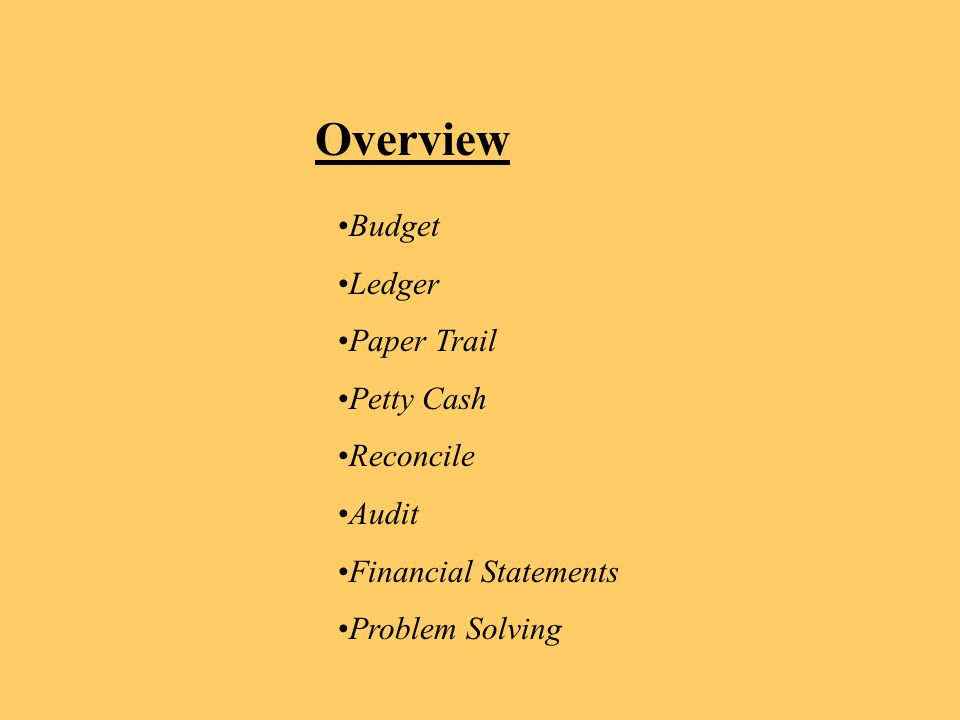 book keeping 101 how to keep track of cadet funds ppt download