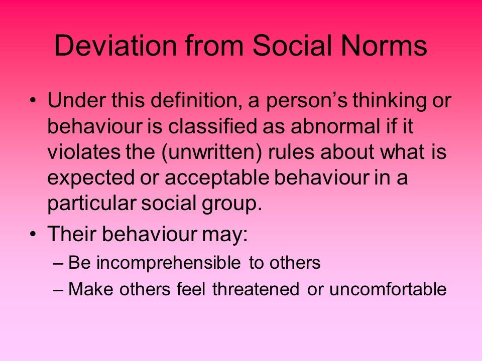 violation of social norms definition