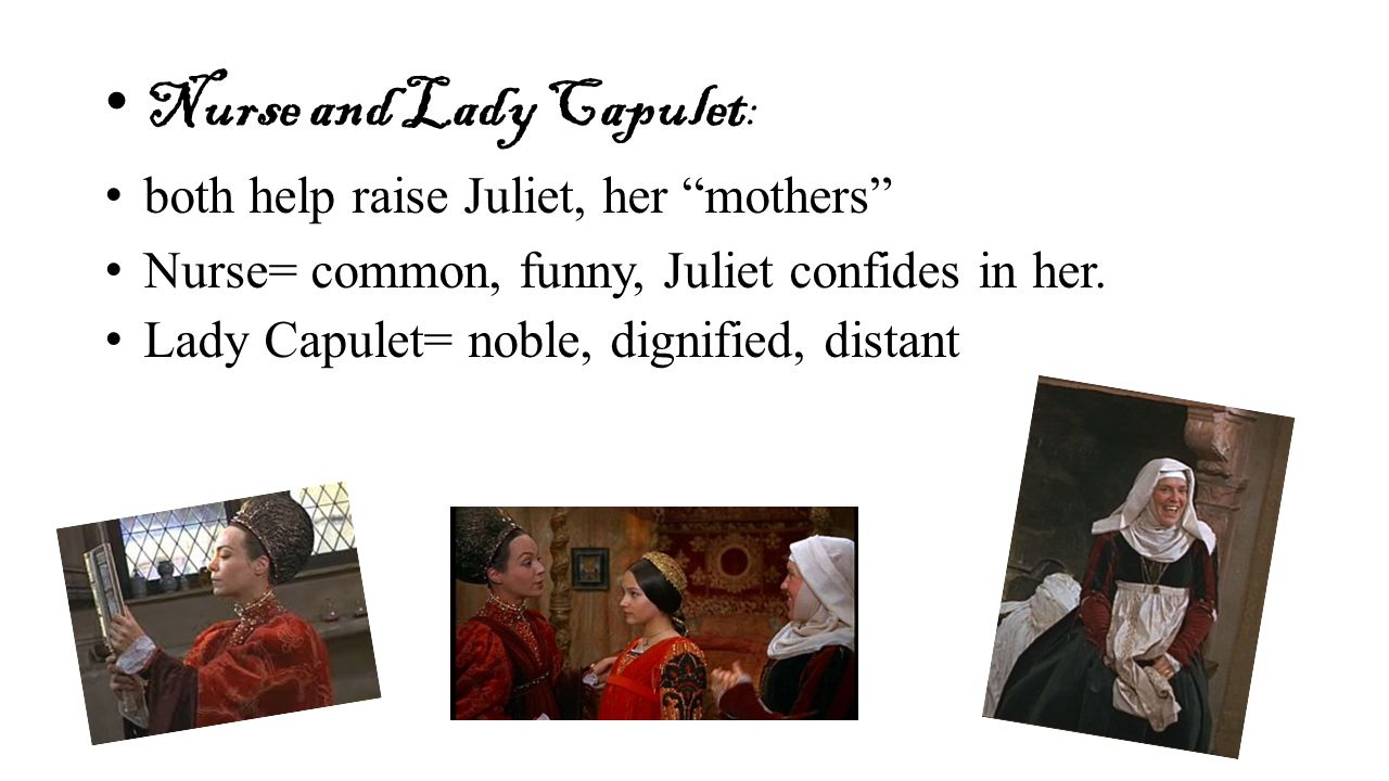 lady capulet character analysis - lord capulet in william shakespeare's romeo and juliet lord capulet is a character in the play romeo and juliet by william shakespeare which we have been reading together in class this piece is a study on this character.