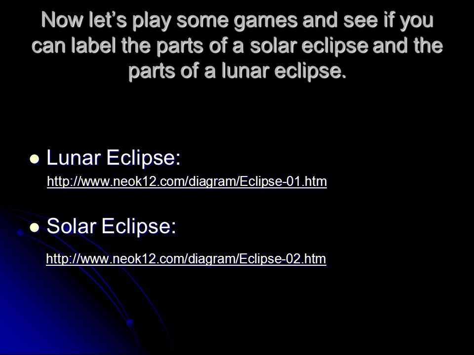 Solar And Lunar Eclipses Mrs Marro Grade 6 Science Ppt Download