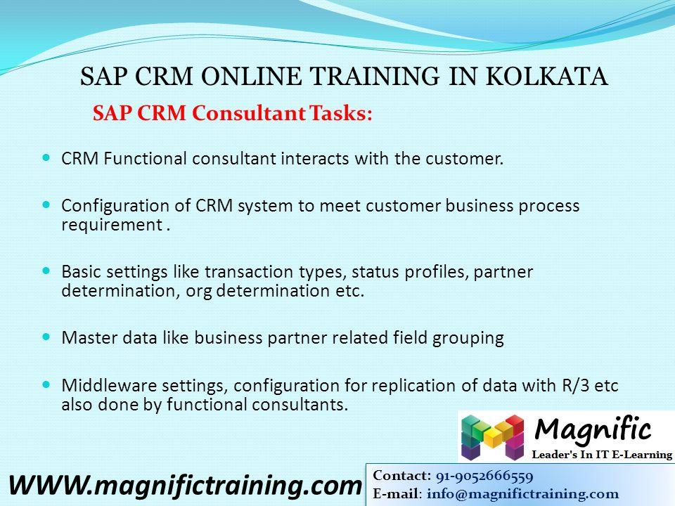 BECOME A SAP CRM CONSULTANT & JOB PROFILE Online   classroom