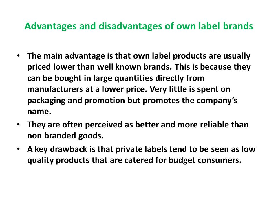 manufacturer brand vs private brand examples